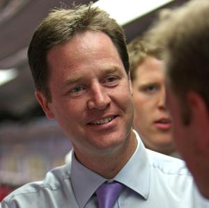 Nick Clegg's Liberal Democrats have seen their poll support rise by 10 per cent in a week