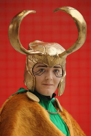 LONDON, ENGLAND - OCTOBER 26:  Autumn McCullough, 20, from Belfast poses as Loki from the series Thor ahead of the MCM London Comic Con Expo at ExCel on October 26, 2012 in London, England. Visitors to the Comic Convention are encouraged to wear a costume of their favourite comic character and flock to the Expo to gather all the latest news in the world of comics, manga, anime, film, cosplay, games and cult fiction.  (Photo by Dan Kitwood/Getty Images)