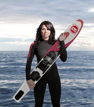 Christine Bleakley.Taking part in Comic Relief