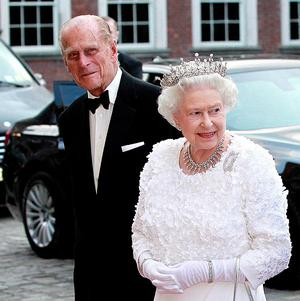 The British Queen and the Duke of Edinburgh arrive at Dublin Castle for a State dinner