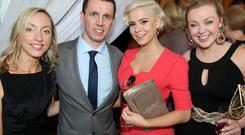 Claire McCormick, Martin Breen, Holly Sweeney and Sara Girvan at the Sunday Life Spirit of Northern Ireland Awards. 21/06/12 Picture Mark McCormick