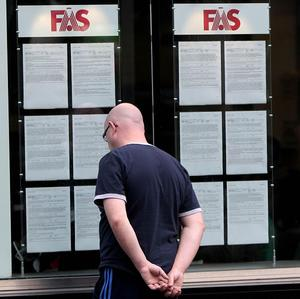 Official figures show a total of 309,000 people were unemployed by March