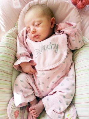 EMMA Kerr and Joe Morrison from Belfast are celebrating the birth of their daughter Arya Faith Morrison.
