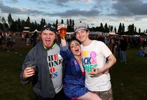 Fans at the Stone Roses gig in Boucher playing fields