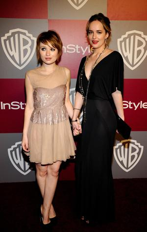 BEVERLY HILLS, CA - JANUARY 16:  Actress Emily Browning (L) arrives at the 2011 InStyle And Warner Bros. 68th Annual Golden Globe Awards post-party held at The Beverly Hilton hotel on January 16, 2011 in Beverly Hills, California.  (Photo by Kevork Djansezian/Getty Images)