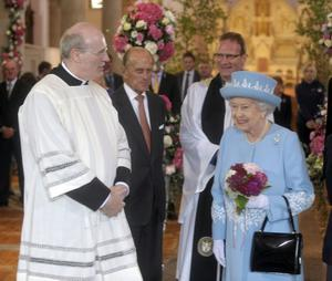 HRH the Queen and Prince Phillip during their visit to St Michaels Chapel Enniskillen on the first day of her two day visit to the province.Photo by Simon Graham/Harrison Photography