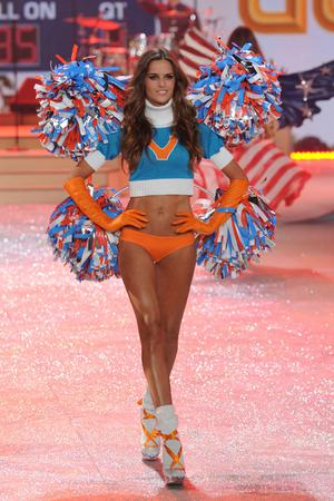 NEW YORK, NY - NOVEMBER 07:  Model  Izabel Goulart walks the runway during the Victoria's Secret 2012 Fashion Show on November 7, 2012 in New York City.  (Photo by Bryan Bedder/Getty Images for SWAROVSKI ELEMENTS)