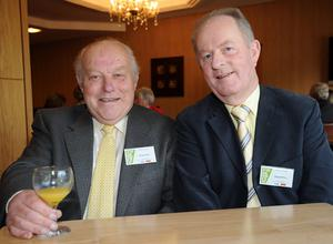 Alwyn Sinton and George Wilson from Tullylish Village. Calor Village of the Year Award.