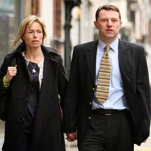 Kate and Gerry McCann, missing Madeleine's parents