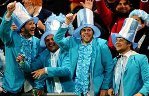 WELLINGTON, NEW ZEALAND - SEPTEMBER 25:  Argentina fans enjoy the pre-match atmosphere prior to kickoff during the IRB 2011 Rugby World Cup Pool B match between Argentina and Scotland at Wellington Regional Stadium on September 25, 2011 in Wellington, New Zealand.  (Photo by Stu Forster/Getty Images)