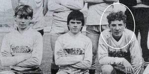 A young 14 year old Brendan Rodgers (circled) who played for Ballymena United (Northern Ireland) in the 1986 Milk Cup.PICTURE MARK JAMIESON.