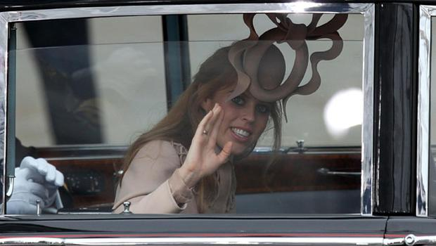 Princess Beatrice arrives at Westminster Abbey, London, ahead of the royal wedding. PRESS ASSOCIATION Photo. Picture date: Friday April 29, 2011. See PA story WEDDING Guests. Photo credit should read: Gareth Fuller/PA Wire