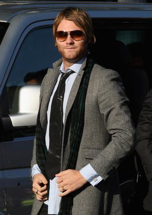 Brian McFadden attends the funeral of Boyzone singer Stephen Gately