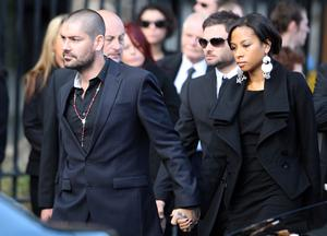 Boyzone's Shane Lynch attends the funeral of Stephen Gately at St Laurence O'Toole Church in Dublin