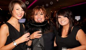 Danielle McElhinny, Fiona Denvir, Victoria Downey - at the Argento winter collection launch in The Ivory, Belfast