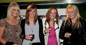 Rachel Frazer, Jenny Moore, Naomi Murphy and Cheryl Hill - at the Argento winter collection launch in The Ivory, Belfast