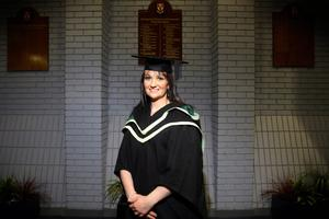13.12.10. Picture by David Fitzgerald. Graduations yesterday from the University of Ulster in Jordanstown. Rosie Peters who studied Nursing Science