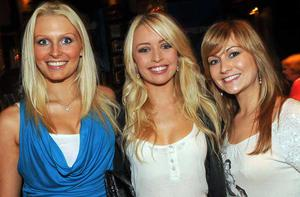 Cherie Gardiner, Emma Catling and Laura Norris are pictured at the final of Pepsi Sexiest Man 2009 in association with Northern Woman. The final took place in Northern Whig, Belfast