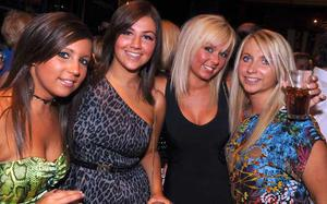 Christine Hooks, Jenna McCartney, Lauren McCartney and Claire McKnight are pictured at the final of Pepsi Sexiest Man 2009 in association with Northern Woman. The final took place in Northern Whig, Belfast