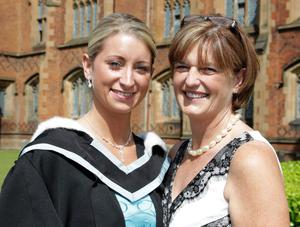 Joanne McKinley and mum Attracta who graduated with a BA Honours Degree.