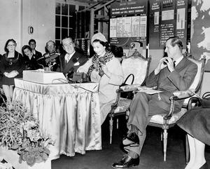Anniversary of historic telephone call marked.The first long-distance phone call made without the help of an operator, by Britian's Queen Elizabeth II on December 5, 1958, with The Duke of Edinburgh watching (right) at the central telephone exchange in Bristol, to the Lord Provost of Edinburgh, marking the 50th anniversary of the event. PRESS ASSOCIATION Photo