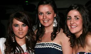 Toirease Canning, Ava Sweeney and Rachel Sweeney on a nite out for Ava's 20th birthday at the Metro Bar in Londonderry