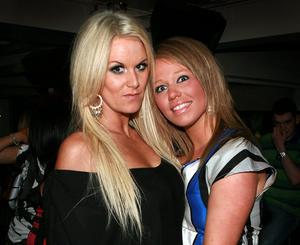 Charlene Boyle and Martina Coyle on a nite out at the Metro Bar in Londonderry.