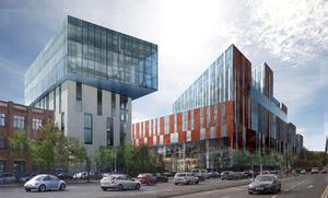 An artist impression of the new University of Ulster campus as viewed from Great Patrick Street (University of Ulster/PA)