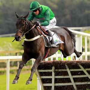 Grandouet jumps the last on the way to victory