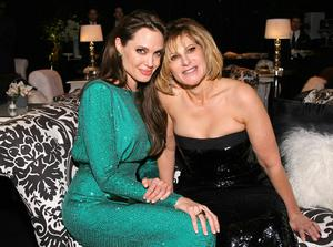 Actress Angelina Jolie and Sony Pictures Entertainment Co-Chairman Amy Pascal attend the Sony Pictures Classic 68th Annual Golden Globe Awards Party held at The Beverly Hilton hotel on January 16, 2011 in Beverly Hills, California.  (Photo by Neilson Barnard/Getty Images)