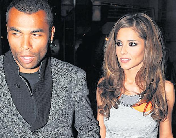 Cheryl with Ashley Cole