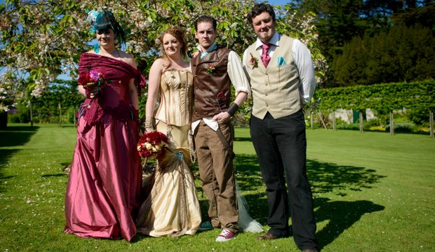 Amy Best and Adam McCausland married 1st June in Glenarm Castle, with the Walled Gardens being used for the Reception Venue with MagnaKata Tipis. (The first, and only wedding to use the walled gardens for reception.)