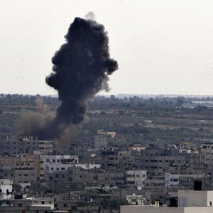 A filmmaker has described how he nearly fell victim to the Israeli airstrikes which have rocked Gaza (AP)