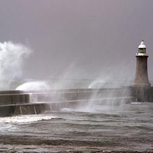 Gales at Tynemouth as parts of Britain are braced for more high winds and heavy rain