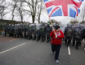 PSNI officers on the Lower Newtownards