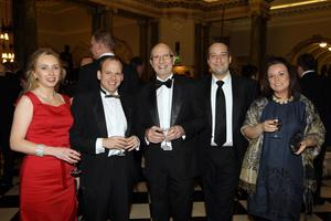 Johanna Mitchell, Colin Mitchell, Colin Neill, Steven Quinn and Carla Quinn at the Pub of the Year Awards 2011