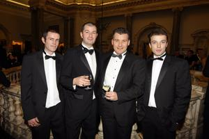 Jason Gibson, Mark Reid, Martin McGovern and Chris Noble from The Devenish Bar in Enniskillen at the Pub of the Year Awards