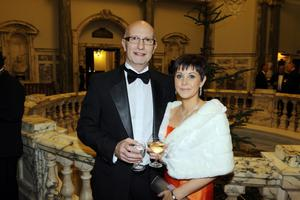 Colin Neill, chief executive of Pubs Of Ulster and Karen Collins