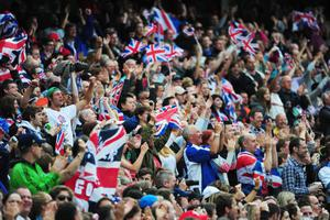 LONDON, ENGLAND - AUGUST 04:  Spectators soak up the atmopshere on Day 8 of the London 2012 Olympic Games at Olympic Stadium on August 4, 2012 in London, England.  (Photo by Stu Forster/Getty Images)
