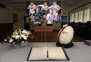 Ravenhill Rugby Club on the day of the Spence funerals