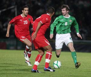 <b>Paddy McCourt - 8</b><br /> Had to go off at half-time with an injury but before that he was the one player on the pitch who was providing a spark. Was frustrated at a lack of movement when he had the ball. Answered a lot of questions about his workrate.