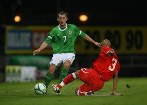 <b>Niall McGinn - 6</b><br /> One of McGinn's quieter nights at Windsor Park. He did well to fight for the ball in the corner shortly before half-time and found Rory Patterson with his cross, only for the striker to be crowded out.