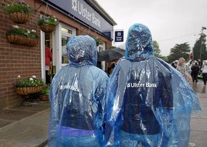 Free rain macs proved popular with visitors to Balmoral Show after showers on Thursday afternoon