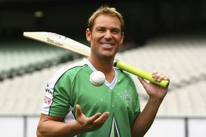 Shane Warne (42) announces his return at the Melbourne Cricket Ground yesterday