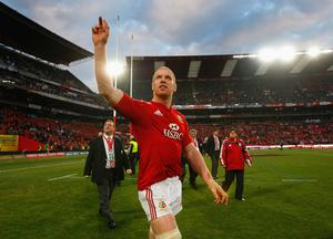 Lions captain Paul O''Connell waves to the crowd after the Third Test match between South Africa and The British and Irish Lions at Ellis Park Stadium