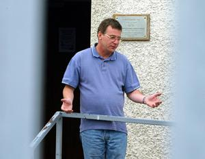 4/7/03 Garvaghy road residents spokesman Brendan MacCoinnaith pictured in Portadown.