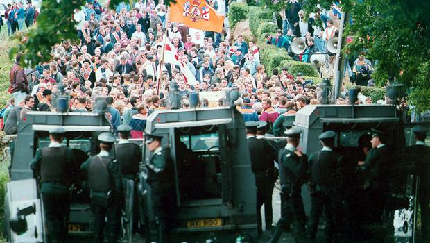 STAND-OFF BETWEEN PSNI AND ORANGEMEN.