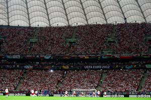 WARSAW, POLAND - JUNE 08: A general view during the UEFA EURO 2012 group A match between Poland and Greece at The National Stadium on June 8, 2012 in Warsaw, Poland.  (Photo by Michael Steele/Getty Images)