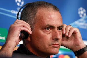 I'm listening: Real Madrid manager Jose Mourinho is rumoured to have has talks with Chelsea owner Roman Abramovich