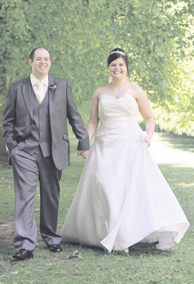 """Linda and Gordon McIlmoyle tied the knot on June 2 this year at Cregagh Presbyterian Church <p><b>To send us your Wedding Pics <a  href=""""http://www.belfasttelegraph.co.uk/usersubmission/the-belfast-telegraph-wants-to-hear-from-you-13927437.html"""" title=""""Click here to send your pics to Belfast Telegraph"""">Click here</a> </a></p></b>"""